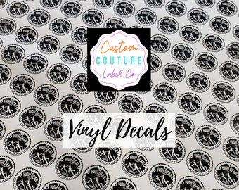 "Custom Vinyl Decals, Vinyl Stickers, Any Shape, Any Size Up To 3"" x 3"", Using YOUR Artwork"