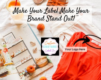 100 Custom Woven Labels - Fashion Brand Labels - Woven Clothing Labels - Your Own Artwork - Up to 8 Colors