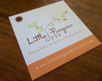 "250 Custom Printed 3"" Hang Tags  - Great High End Quality - Professionally Printed - Super Thick 14pt Cardstock"