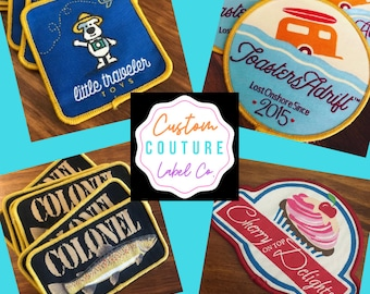 Custom Patches - Woven - Sew On - Iron On - Hook and Loop - Velcro Brand Backed - A USA Company