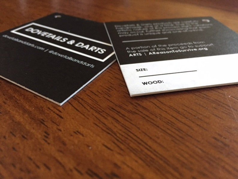 50 Custom Printed 2.5 Square Hang Tags Professionally Printed Great High End Quality SUPER THICK 34pt Cardstock