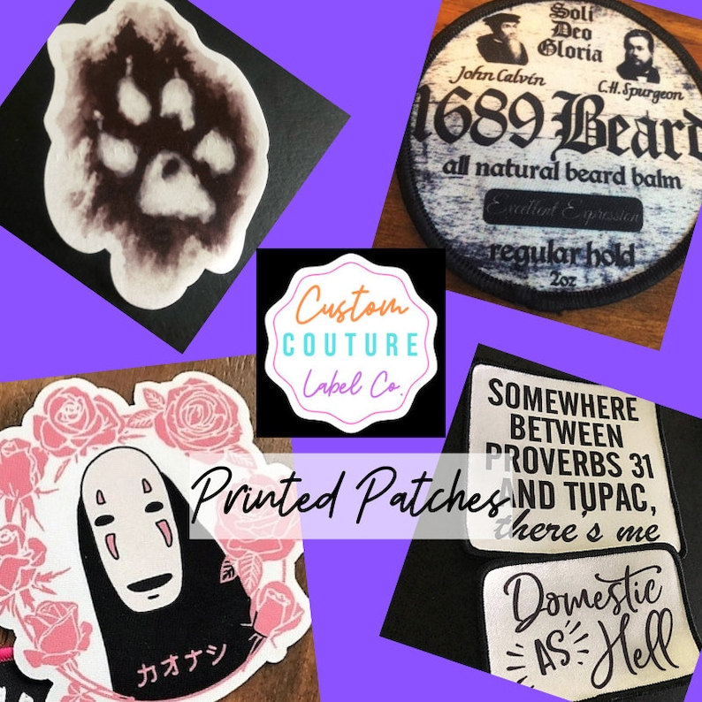 Custom Patches  Printed Patches  Dye Sub Patches  Sew On image 0