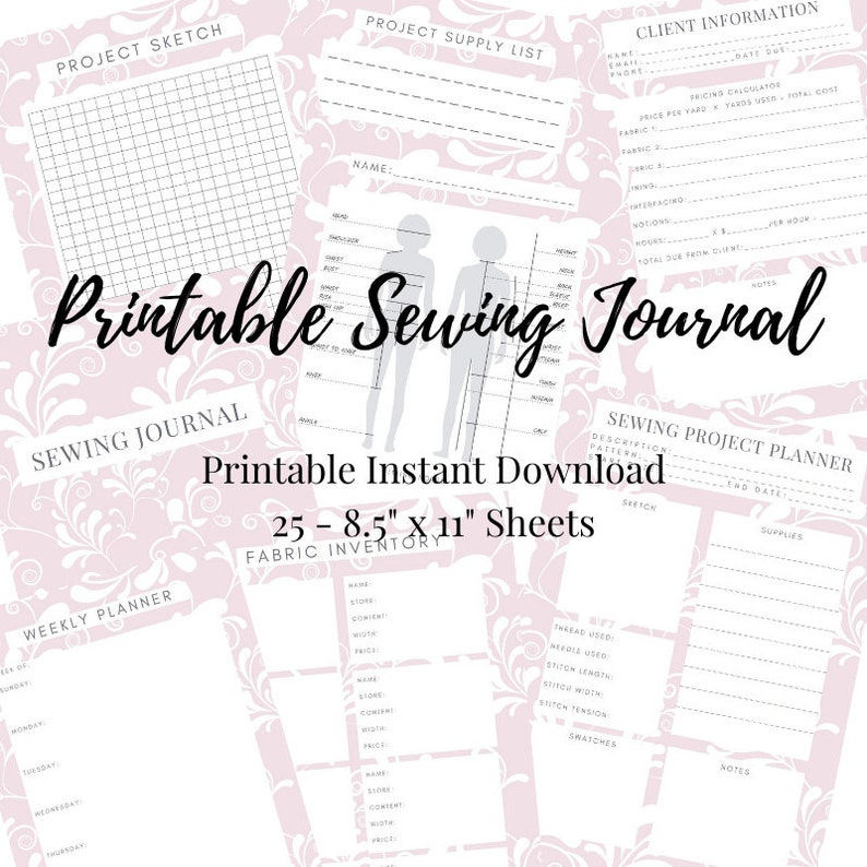 Sewing Planner  Printable PDF Instant Download  Quilt and image 1
