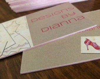 Sandwich Business Cards or Hangtags - Thick Business Cards or Hangtags - Single or Double Stuffed Colored Centers - 35pt or 39pt Cards