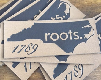 100 Leather Labels - Sew on or Iron On - Brown or Black Leather Patches - Made in USA Company
