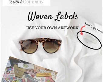 100 Woven Labels - YOUR OWN ARTWORK - Up to 8 Colors - Made in the Usa