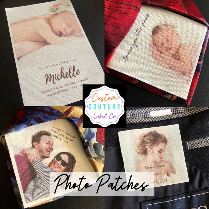 Tie Patch Custom Photo Patch Father of the Bride Groom image 0