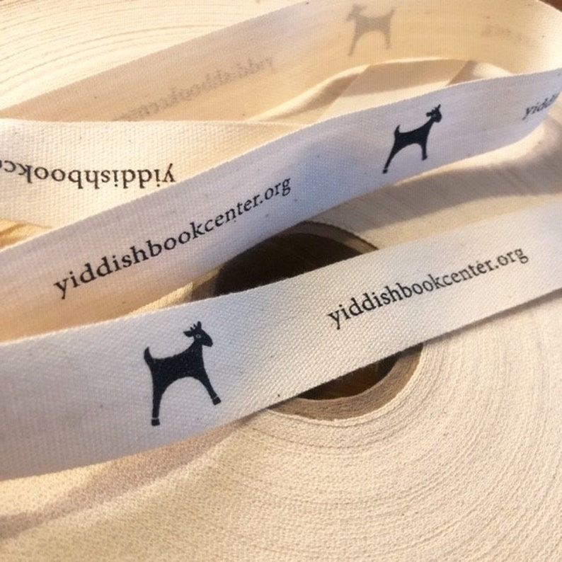 One or Two color imprint 30 or 50 yards White or Natural COTTON RibbonTwill Tape by the yard