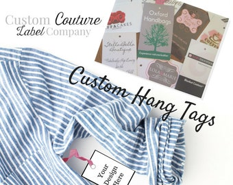 100 Custom Printed Hangtags - Hang Tags - Swing Tags - Professionally offset printed - Super Thick 15pt Glossy or Matte Cards