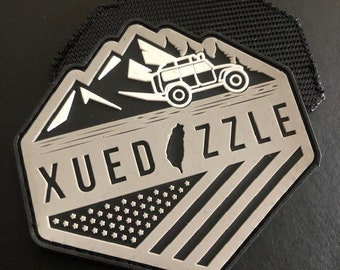 """100 Custom PVC patches - Rubber - up to 3 colors - up to 3""""x3"""" - Made in USA"""