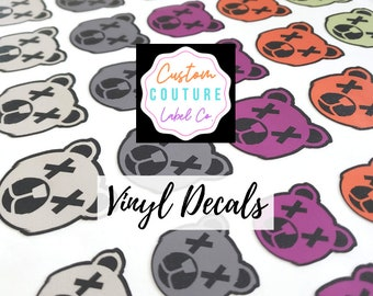 """Custom Vinyl Decals, Vinyl Stickers, Any Shape, Any Size Up To 3"""" x 3"""", Using YOUR Artwork"""