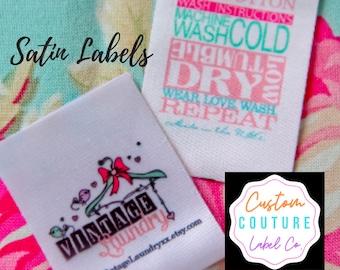 Satin Labels & Ribbon