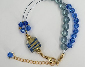 Row Counter Abacus Bracelet For Knitting and Crochet  - Summer Rain II - Item No. 1273
