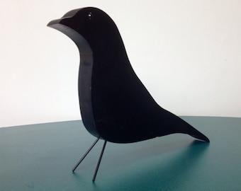 Black bird wooden nature object by Jonathan Sebastian