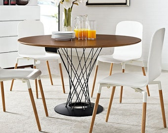 be96c3756550 CYCLONE Round dining table with unique wire medal base Mid Century Modern  Table Free Shipping within US