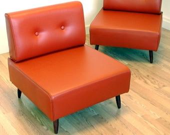 Bokz button back lounge chair  Mid Century Retro Vintage Design