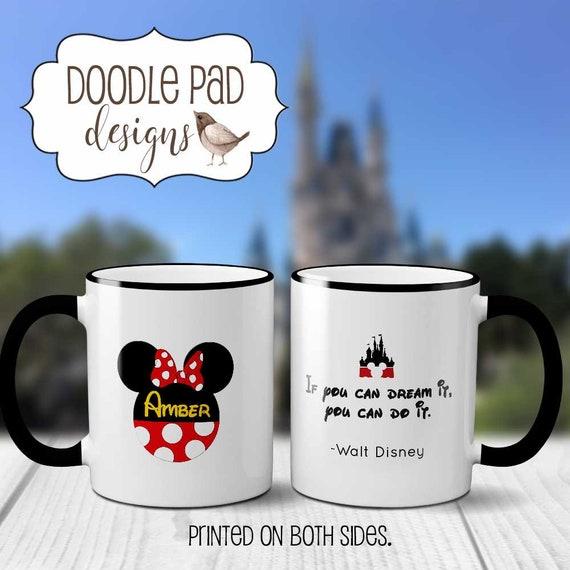 GRADUATION Gift MUG Minnie Mouse Mug Mickey Mouse Coffee Mug Disney  Inspirational Quote Senior Gift High School Graduation Gifts