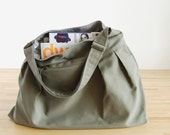 The market bag in Olive and Sage (w\/ an adjustable strap)