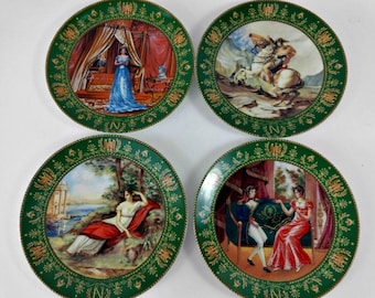 Limoges Plates Set / Josephine Napoleon / French Plate / Boulme / Hand Painted Collectors Plates / French Provincial  / Neoclassical Style /