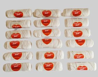Vintage Red Heart Yarn, Off White,3 oz Weight, 4 Ply Handknitting Yarn, Lot of 18, Large Lot, Puff Wintuk, Machine Washable Acrylic