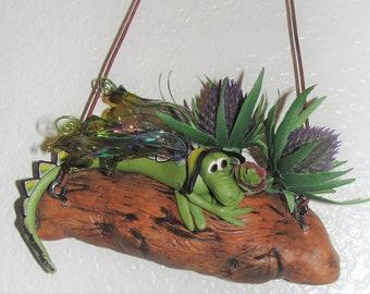 Dragon chillin' on a log....OOAK Elemental Dragon
