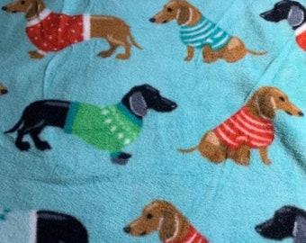 NEW-Knit-Dachshunds-Blanket Sleep Sleeper Sack-2T-3T-Handmade-Custom