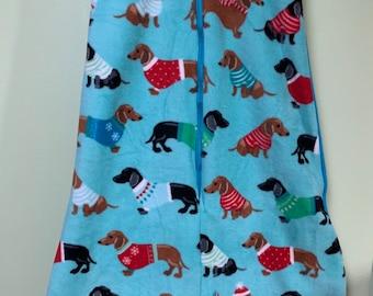 3f5cb471f NEW-Fleece-Dachshunds in Sweaters-Blanket Sleep Sleeper  Sack-4T-5T-Handmade-Custom-40