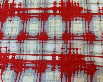 NEW-Knit-Red Plaid-Blanket Sleep Sleeper Sack-0-3 Mo-Handmade-Custom-Last One
