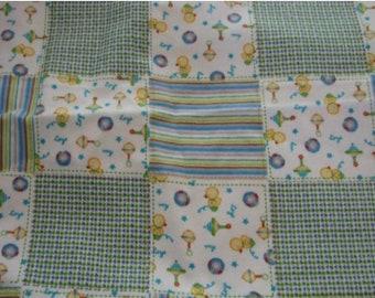 NEW-Flannel-Patchwork-Blanket Sleep Sleeper Sack-3-6 M-Custom-Handmade