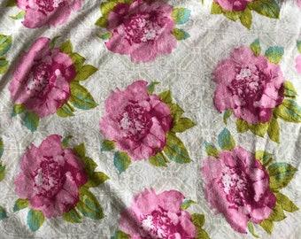 NEW-Knit-PINK PEONIES-Blanket Sleep Sleeper Sack-2-3T