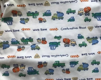 "NEW-Knit-Construction-Blanket Sleep Sleeper Sack-4T-5T-Handmade-Custom-40"" long"