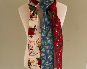 My Baby Boutique-Designer Boys Neck Tie-3-7-Christmas Choice-Plastic Loop Closure-Ready To Ship!