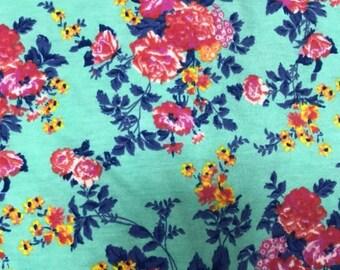 NEW-Knit-Minty Floral-Blanket Sleep Sleeper Sack-0-3 Mo-Handmade-Custom-Last One