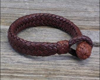 The 16 Strand Mens Leather Bracelet