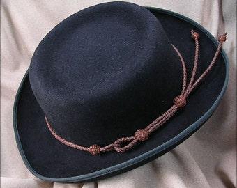 Braided Kangaroo Leather Hat Band