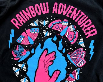 Rainbow Adventurer Glowing Moths Shirt