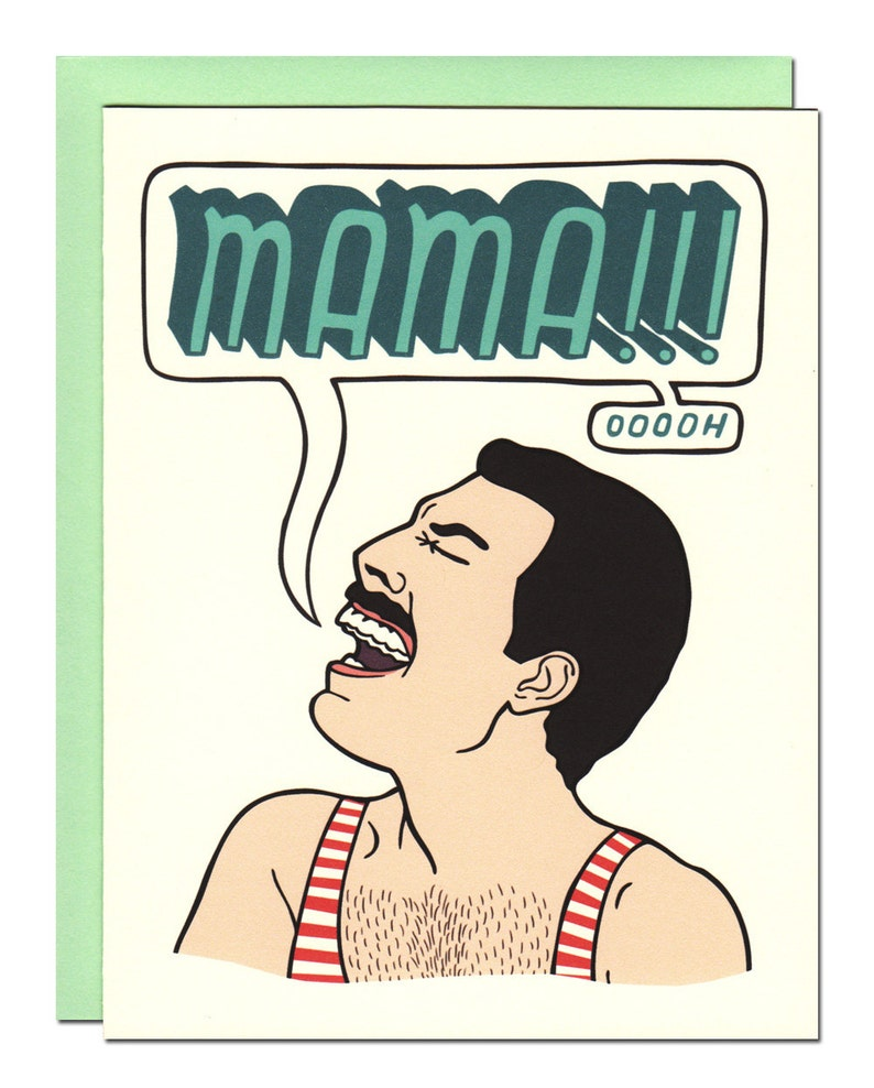 Freddie Mercury Mother's Day Card image 0