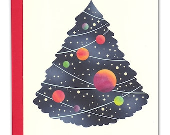 Space Tree Holiday Card