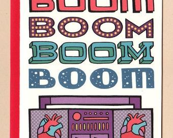 Heartbeat Boombox Card