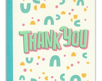 Abstract Shapes Thank You Card