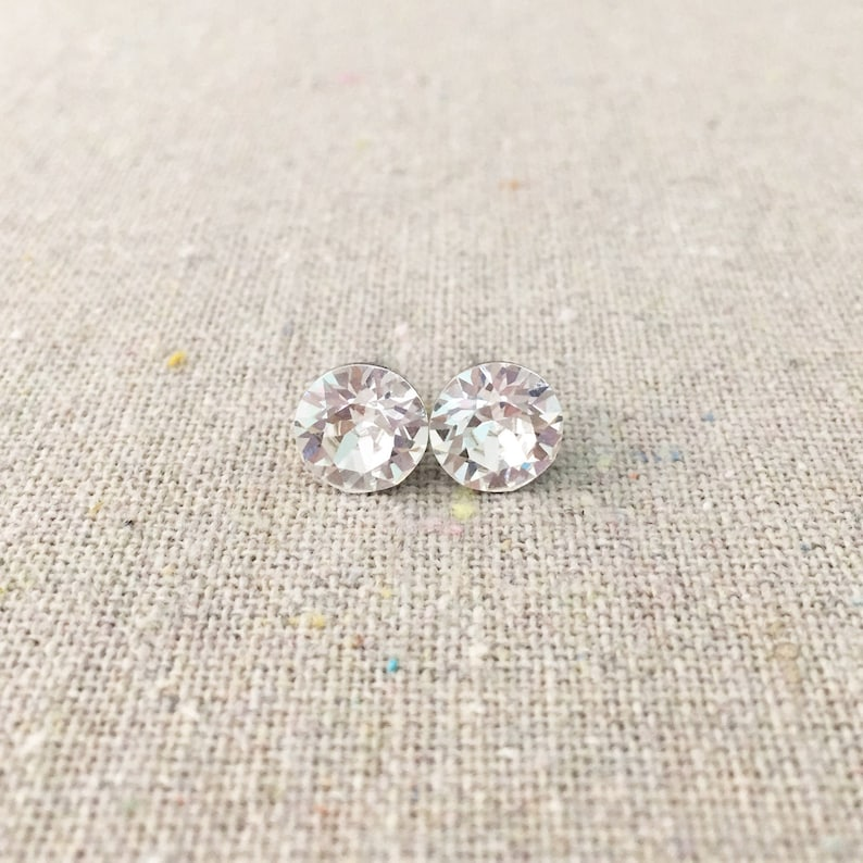 Swarovski Crystal Posts Surgical Steel Post Earrings Faux image 0