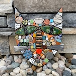 Cat. (A Handmade Original Mixed Media Mosaic Wall Hanging by Artist Shawn DuBois)