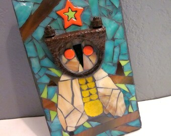 Little Rusty Critter. (Quirky Mixed Media Mosaic Wall Art)