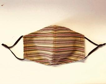 Striped Covid Mask Unisex