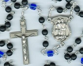Handmade Czech Glass Police Rosary