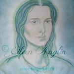 Archangel Raphael,  Angel Art Print, Healing, Energy Art, 8 x 10 Giclee Print