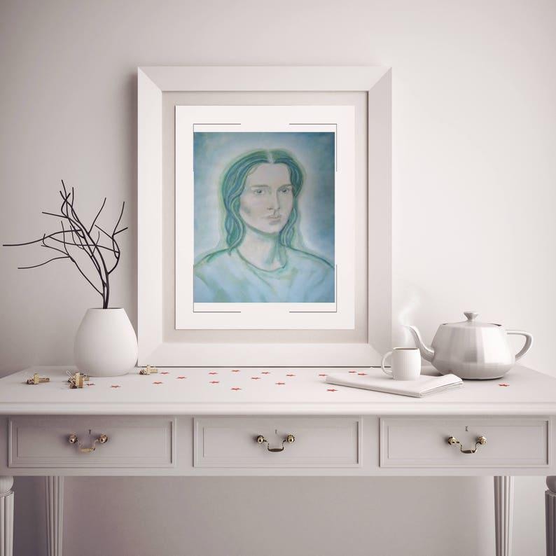 Archangel Raphael  Angel Art Print Healing Angels  8 x 10 image 0