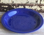 Vintage Fiesta Ware Pie Plate Original Cobalt Blue Kitchen Kraft Small Fiestaware Pie Baker