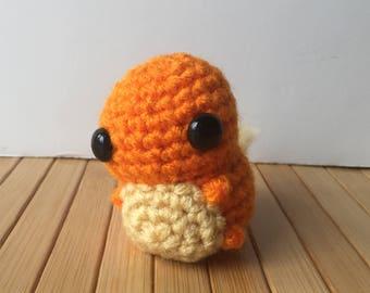 Ditzy Pokemon Starters - Charmander Pokemon Amigurumi - Cute Charmander Doll