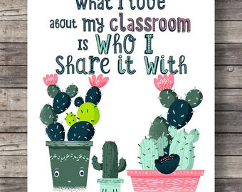 Classroom Printable Art What I Love Most About My Is Who Share It With